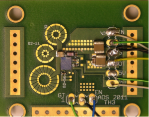 75 MHz Resonant Boost Converter with PCB Inductors