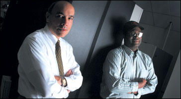 Dave Foss and EECS Myron Freeman
