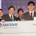 Members of the Unified Solar team: (from left) Jin Moon, Anas Al Bastami, Albert Chan, Jorge Elizondo, Bessma Aljarbou, and Arthur Chang. At far right is NSTAR President Craig Hallstrom. Photo: Michael Fein