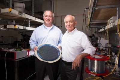 Associate Professor Michael R. Watts (left) and Professor Lionel C. Kimerling (right). Photo: Bryce Vickmark